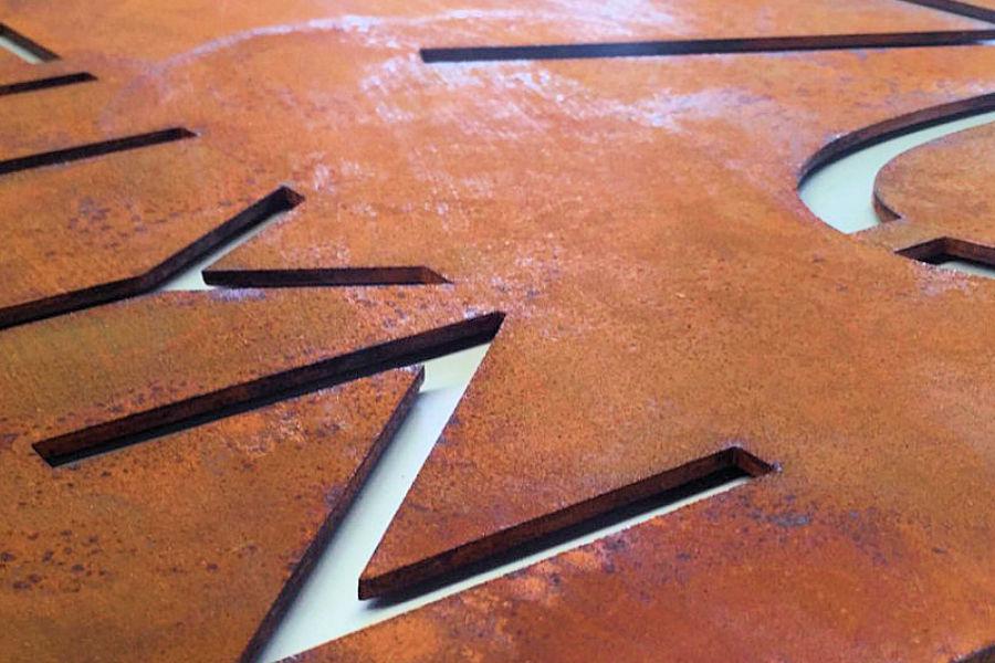 KenTi Cor-ten staal letters uw bedrijfsnaam