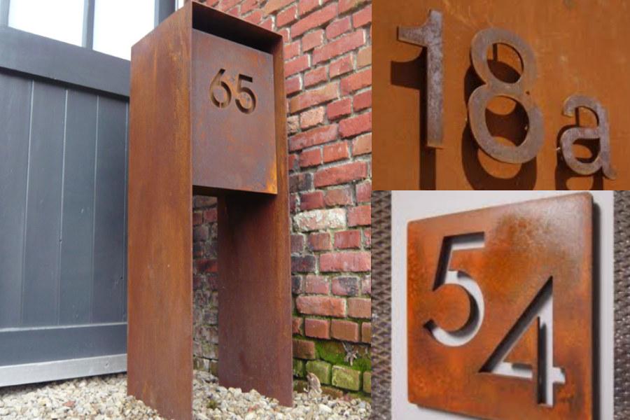 Corten Letters en Nummers van Kenti